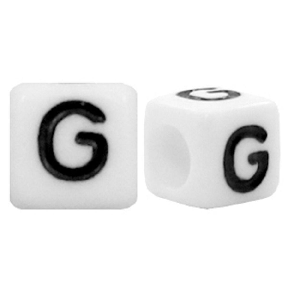 Buchstabenperlen Acryl - 90 Stück - 6 x 6 mm