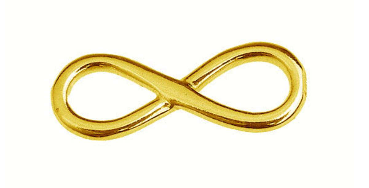 Schmuckverbinder 925er silber Infinity - 1 Stück - 17,5 x 6,7 mm