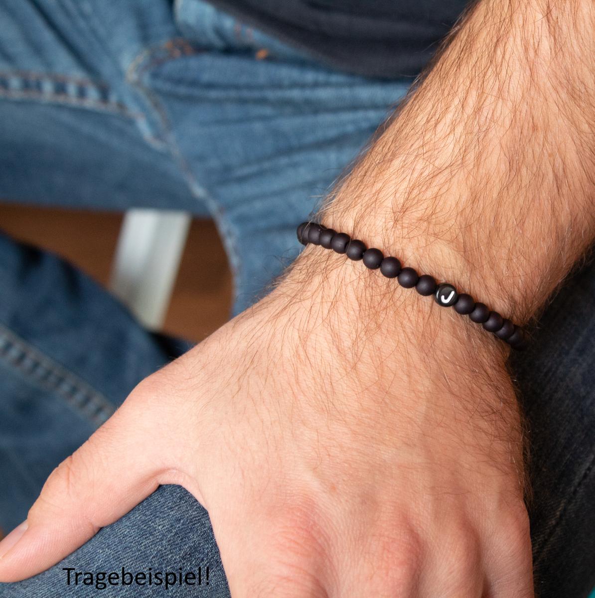 offizieller Verkauf exklusives Sortiment klar und unverwechselbar Milosa Armband Männer Perlen Buchstabe - Modernes Armband Herren - Geschenk