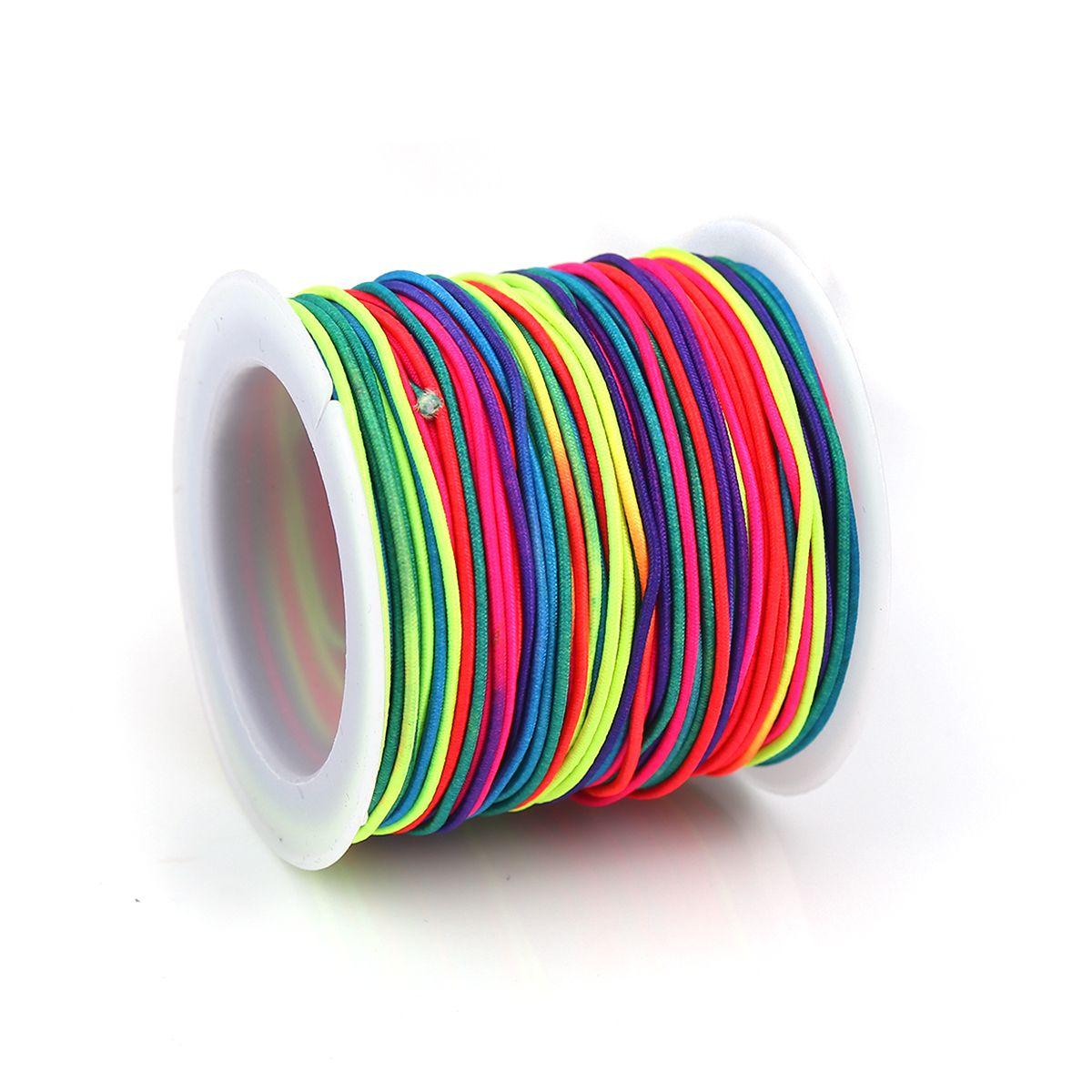 Elastikband Regenbogenfarben 1 Rolle 1 mm Stärke