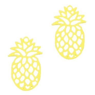 Anhänger Ananas, 2 Stk., 19x12 mm,