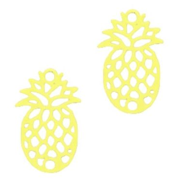 Schmuckanhänger Ananas - 2 Stück - 15 x 10 mm,
