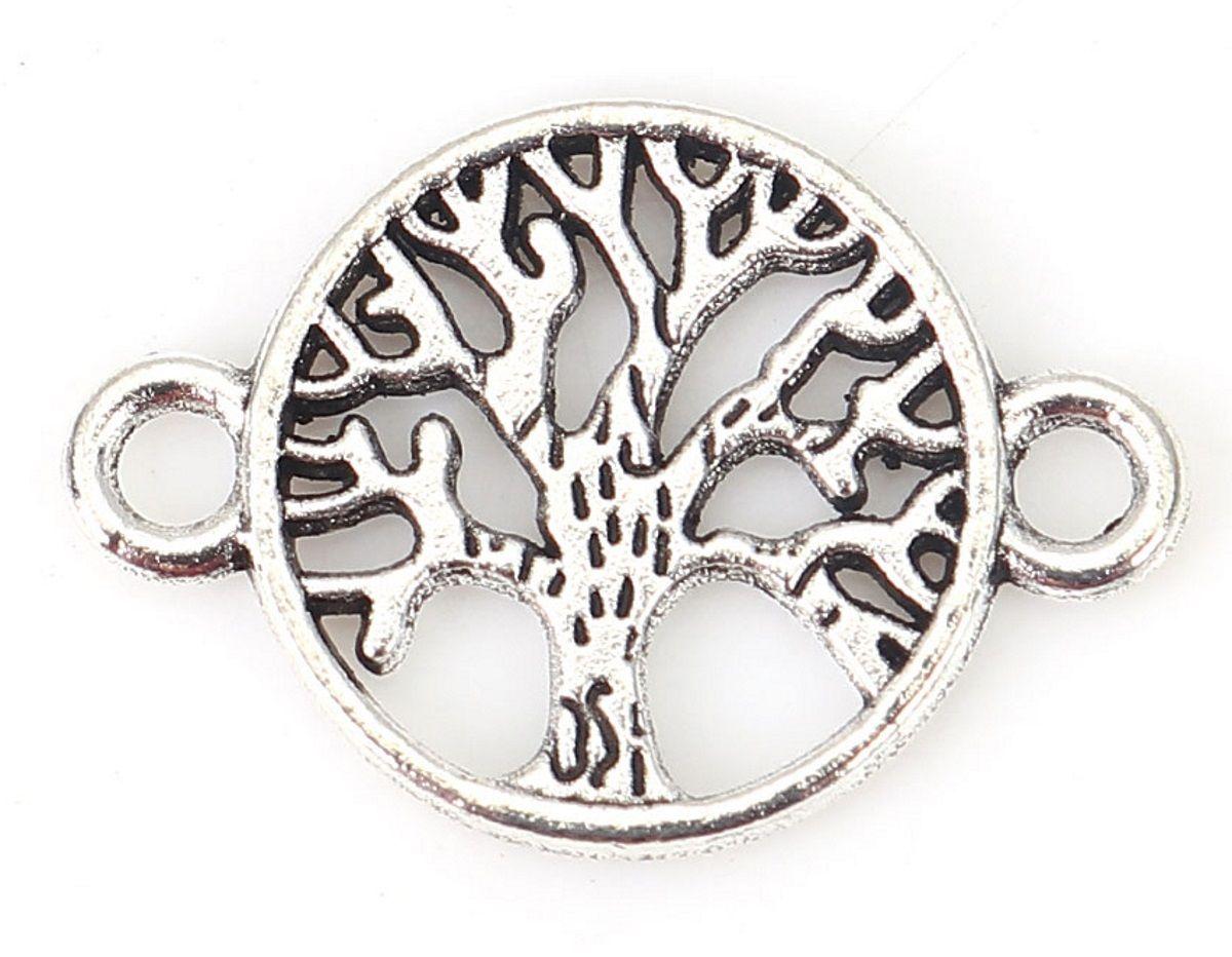 Schmuckverbinder Lebensbaum - 10 Stück