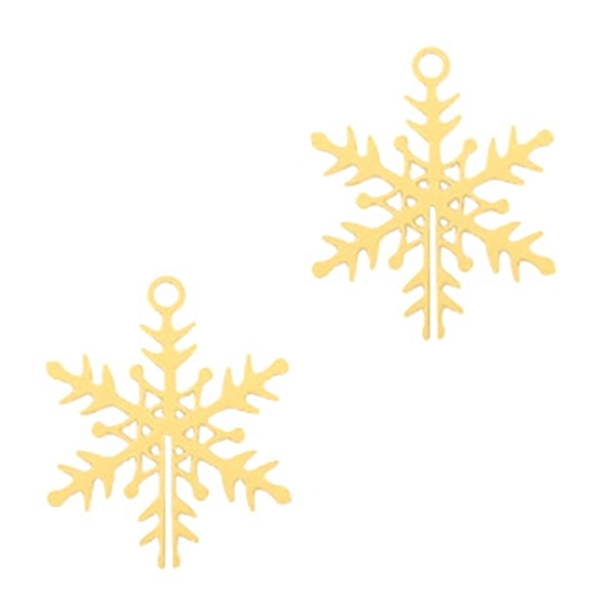 Schmuckanhänger Schneeflocke - 2 Stück - 16 x 13 mm