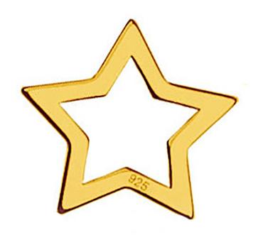 Schmuckverbinder Stern  - 1 Stück - 10,4 x 10,1 mm