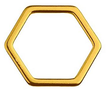 Schmuckverbinder Sechseck - 1 Stück - 10 x 11 mm
