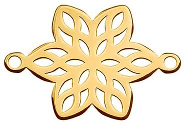 Schmuckverbinder Blume - 1 Stück - 13 x 19,4 mm