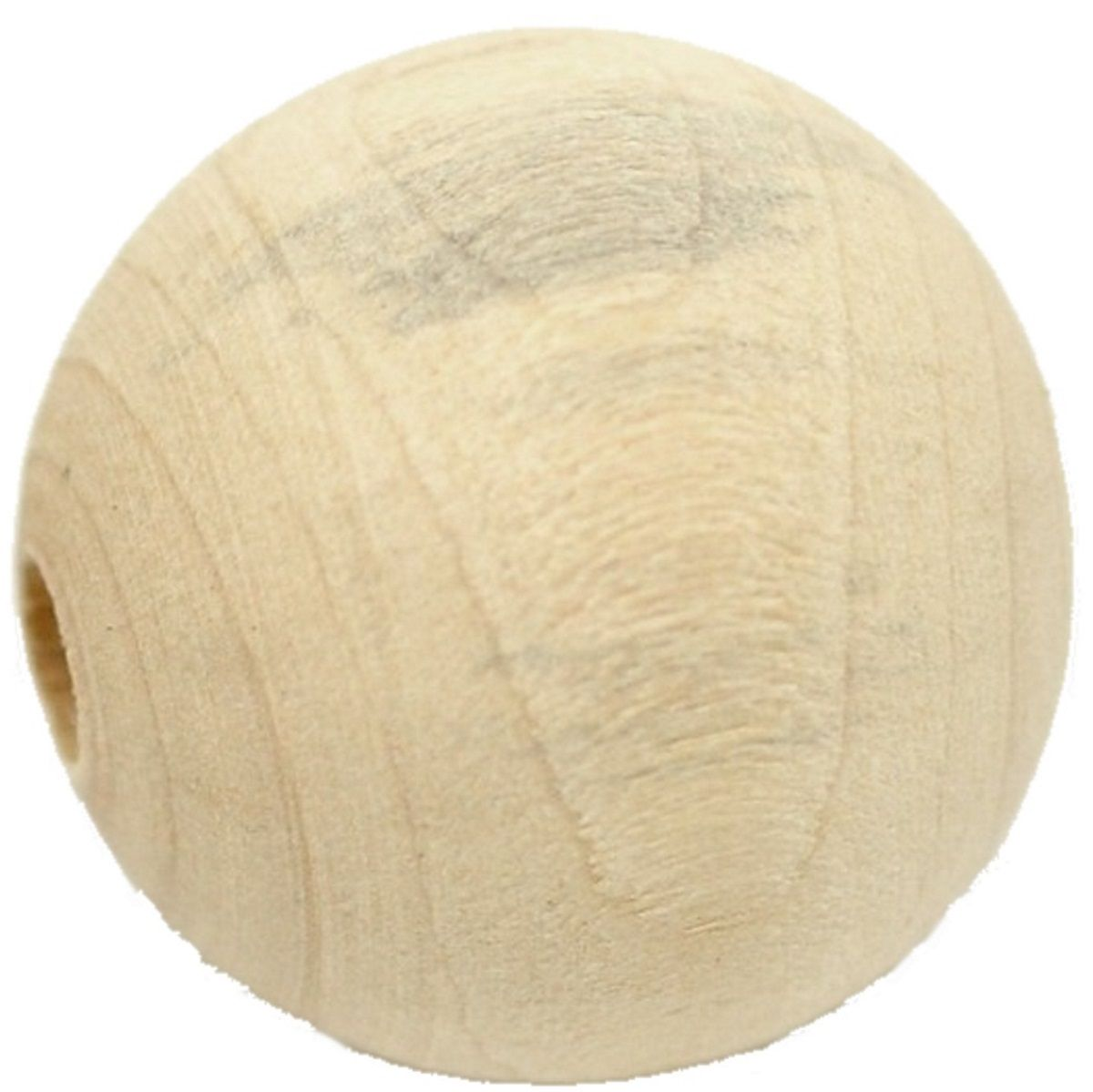 Holzperlen - 50 Stk. - Naturell - Ø 2,5 cm