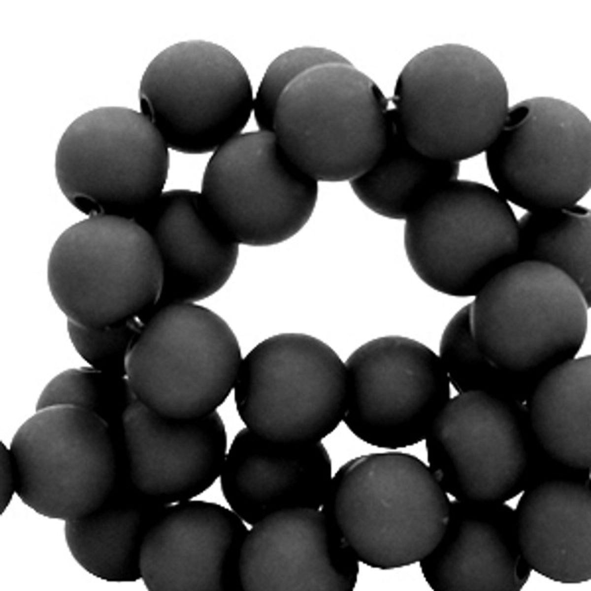 Sadingo Acrylperlen matt schwarz, 4, 6, 8, 10 mm