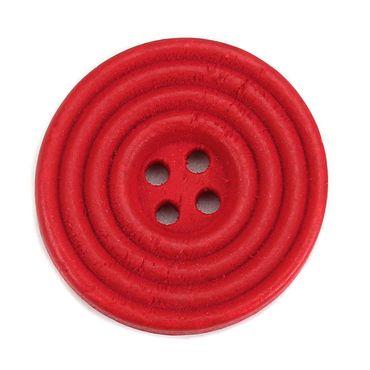 Holzknöpfe rot 25 mm, 30 Stück