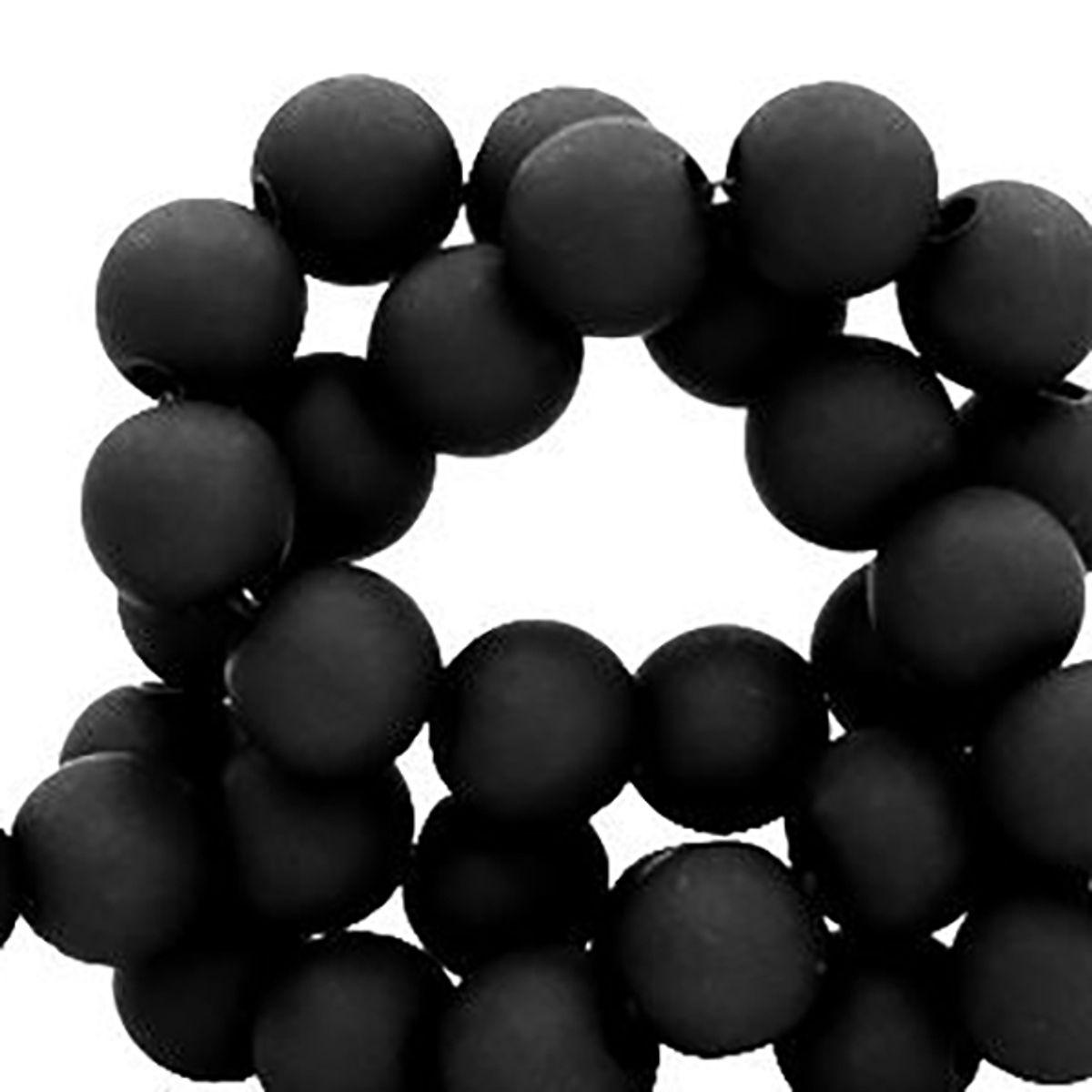 Acrylperlen 6mm matt, 600 Stück, Farben schwarz, taupe-grau und dunkelgrau wählbar