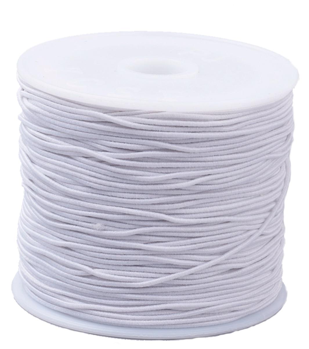 Elastikband schwarz oder weiß, 1 Rolle 20 Meter, 0,8mm Stärke