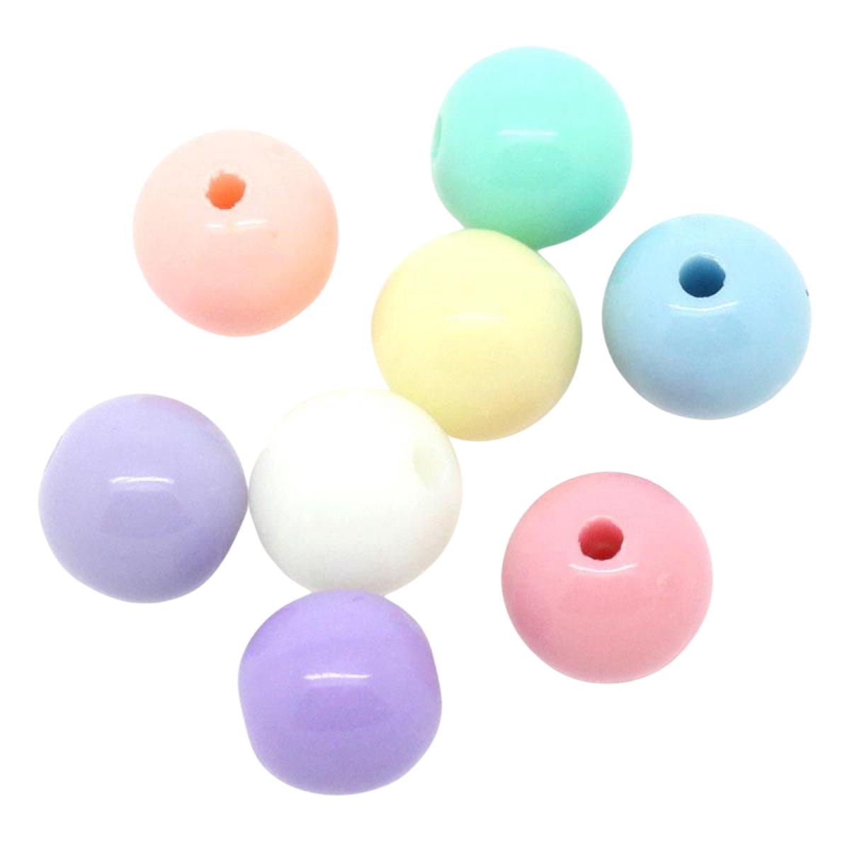 Acrylperlen Mix Pastellfarben, 6mm, 500 Stück