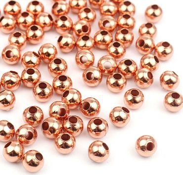 Metallperlen Rocailles Rosegold - 500 Stück - 5mm