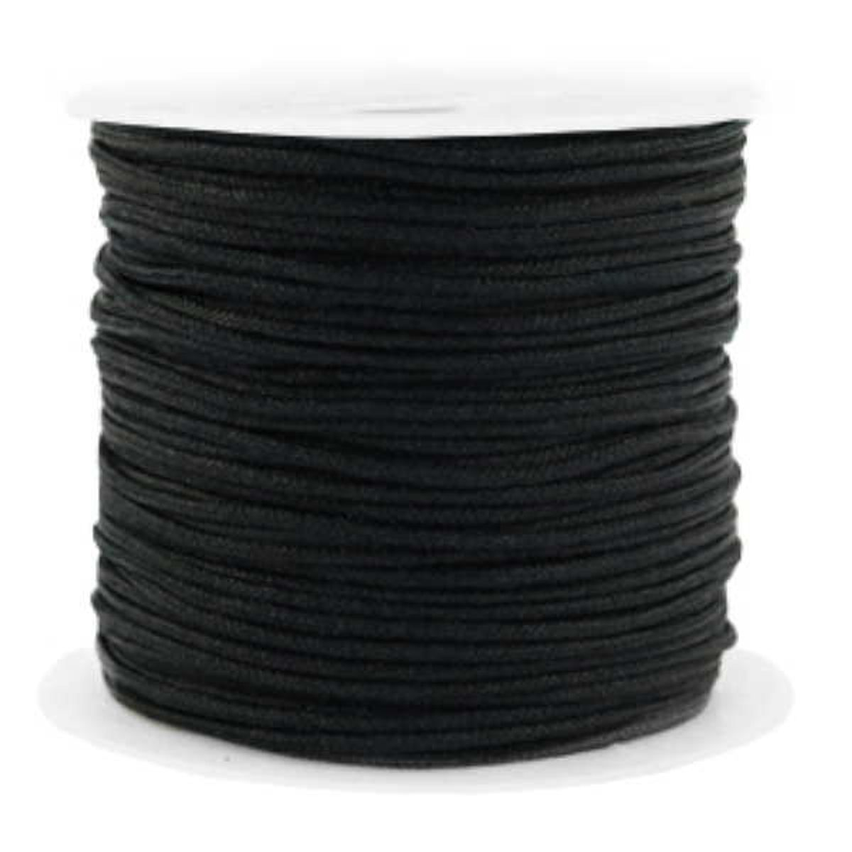 Nylonschnur schwarz - 90 Meter auf Rolle - 1,5 mm Stärke