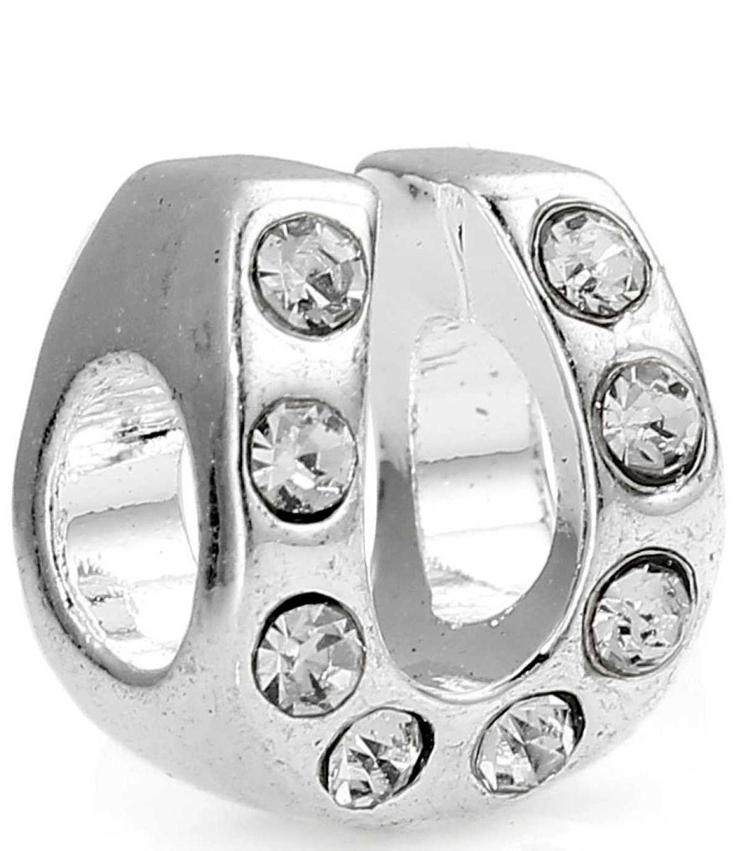 Hufeisen Perlen Metall - 5 Stück 11mm