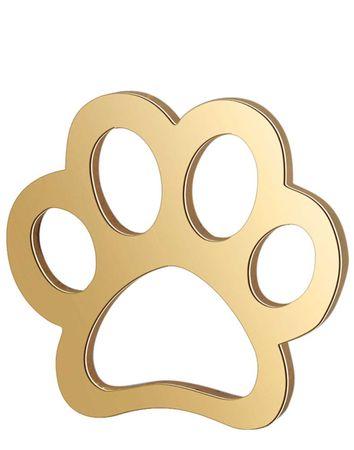 Verbinder Pfote Edelstahl Hund Katze - 10 Stück 12mm - Farbe wählbar