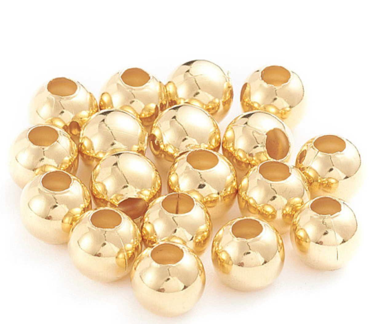 Edelstahlperlen Gold, Durchmesser wählbar