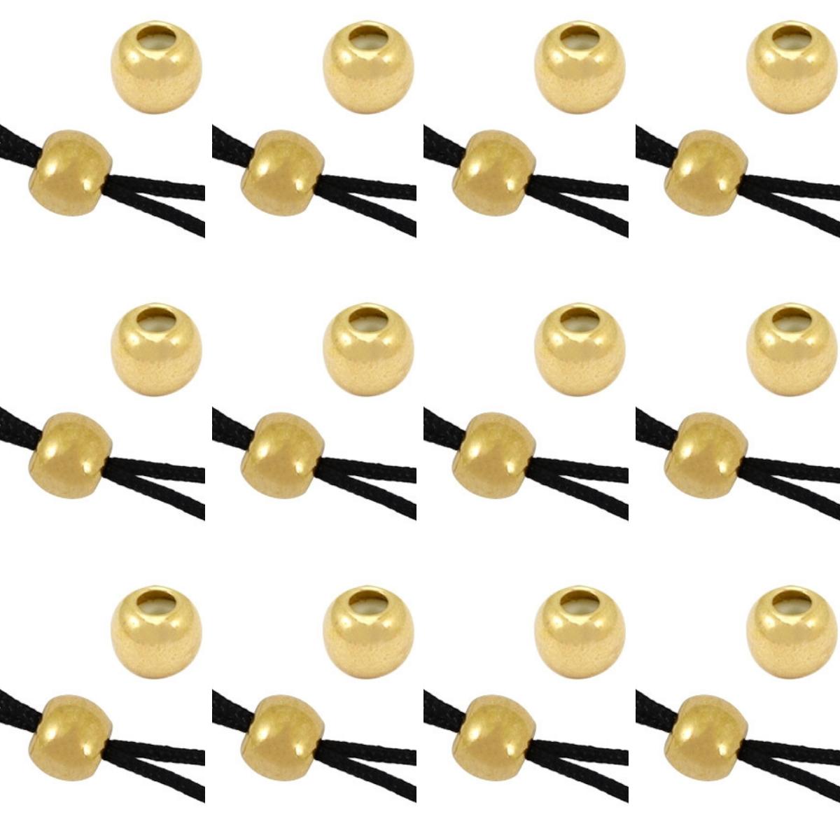 Armband Verschluss Perlen zum auf- und zuziehen, 12 Stück Farbe wählbar