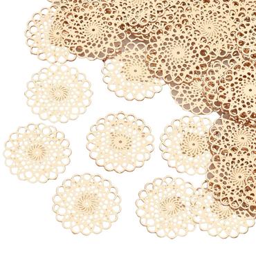 Schmuckverbinder Anhänger Blume des Lebens 13mm 10 Stück