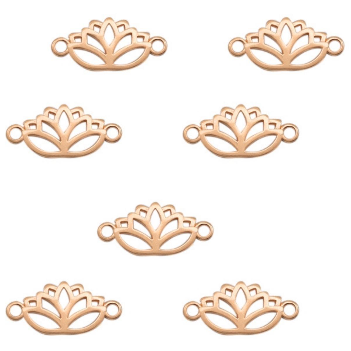 Schmuckverbinder Lotusblume 27x13mm, Farbe/Anzahl wählbar