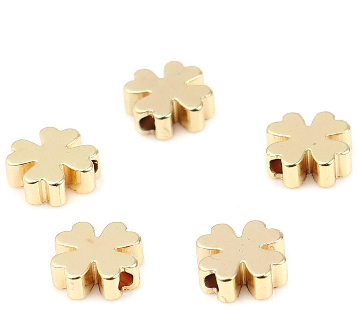 Armband Metallperlen Blumen, 7x7 mm 10 Stück
