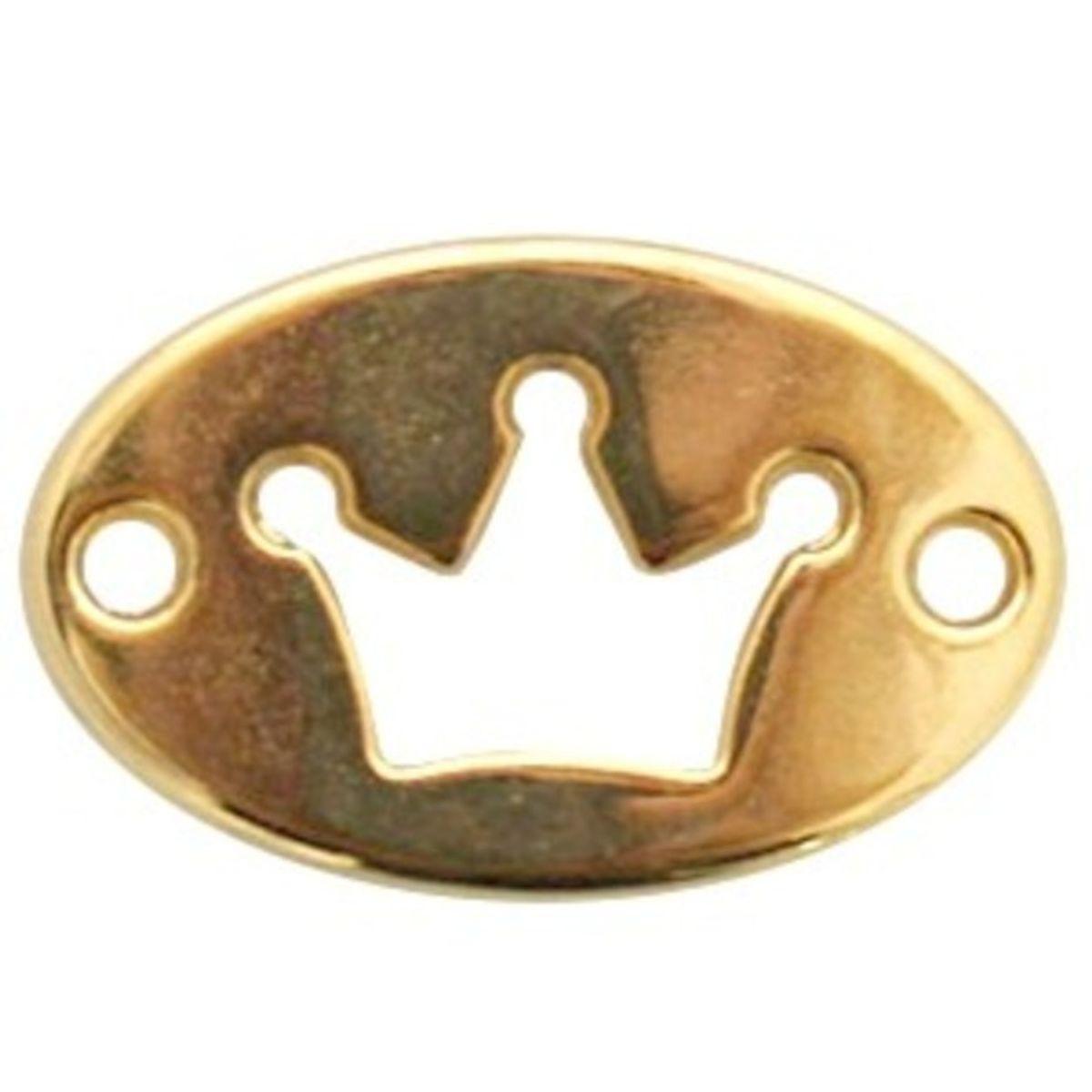 Schmuckverbinder Krone - 1 Stück - 20 x 13 mm