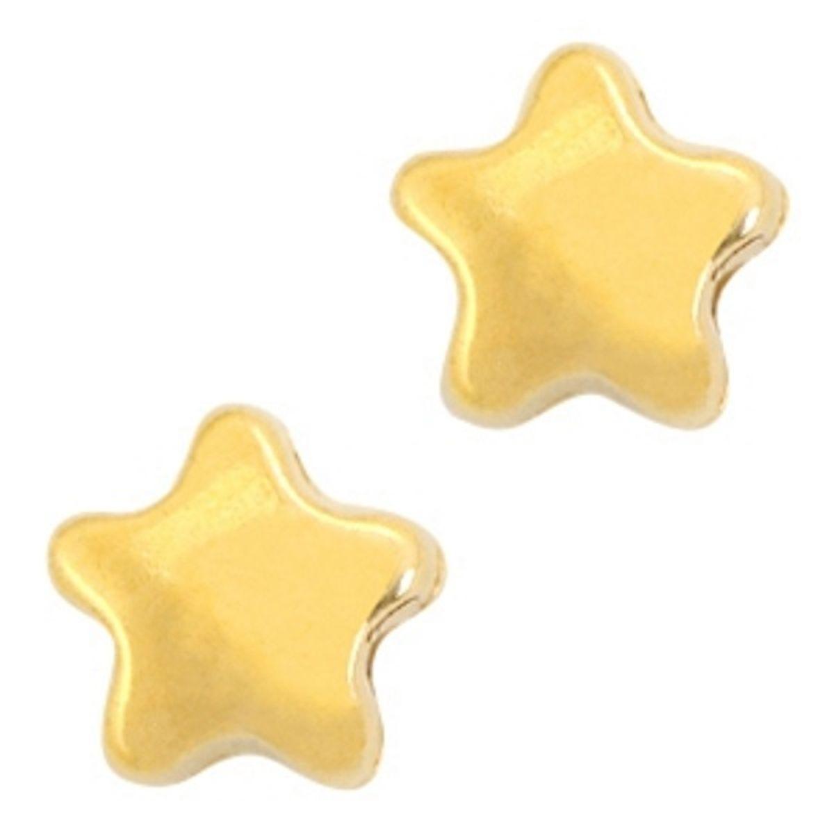 Metallperlen Sterne - 3 Stück - Ø 9 mm
