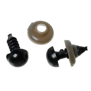 Sadingo Puppenaugen, Teddyaugen - 150 Stück - Puppe, Teddy basteln - Auge 8 mm Durchmesser - Spielzeugmodellbau