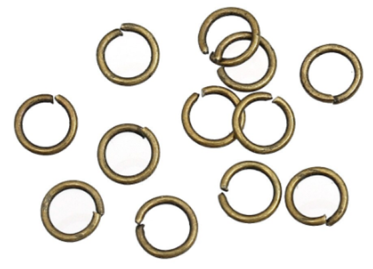 Biegeringe Antik Bronze Metall - 5 mm - 100 Stück