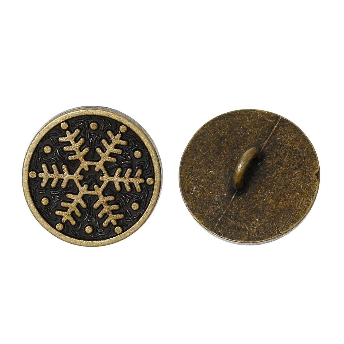 Metallknöpfe / 10 Stk. / Ø 1,8 cm