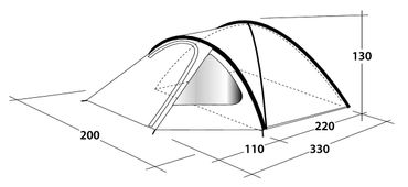 Outwell Tent 'Cloud 3' - 3 Persons  – Bild 11