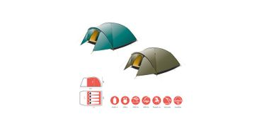 Grand Canyon Tent 'Topeka' - 4 Persons blue grass – Bild 2
