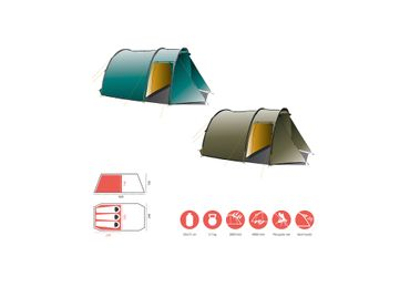 Grand Canyon Tent 'Robson' - 3 Personen blue grass – Bild 2