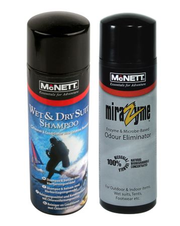 McNett Package Deal Wetsuit & Drysuit Shampoo plus Mirazyme