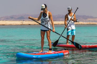 SHARK SUP's adj. Alu Paddle 3sections – Bild 5