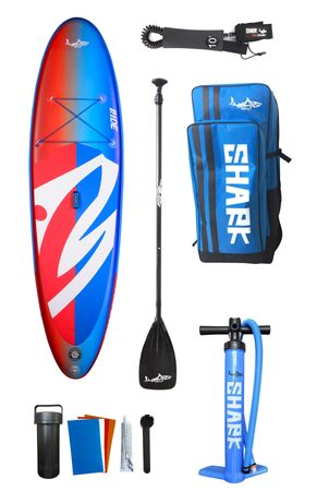 SHARK SUPs 10′ Allround Ride - Inflatable Stand Up Paddle Board SUP Komplettset – Bild 1