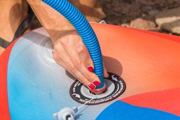 SHARK SUP 10′6 / 32'' / 5'' Lemon Shark Ride – Allround Inflatable Stand Up Paddle Board Komplettset – Bild 19