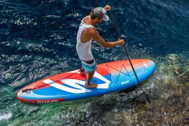 SHARK SUP 11′ Lemon Shark Ride – Allround Inflatable Stand Up Paddle Board Komplettset – Bild 18