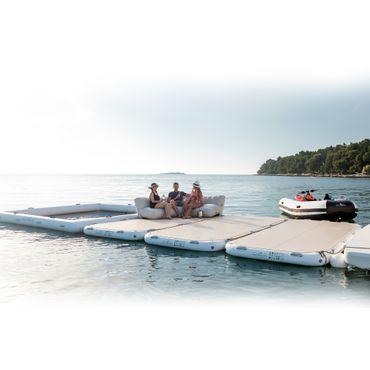 Yachtbeach Platform 4.1 x 2.05m, Pearl White – Bild 4