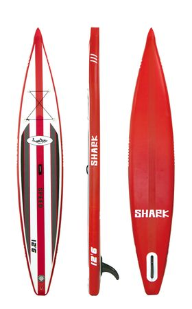 SHARK SUP 12'6 Racing Board 12'6'' x 25'' x 6'' Stand Up Paddle Board SRW-381 – Bild 1