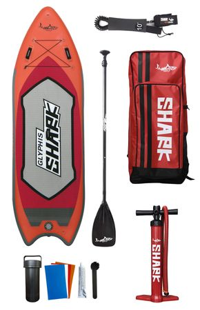 "SHARK SUP 9′4"" Glyphis Shark River Inflatable Paddle Board Package – Bild 1"