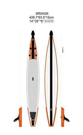 SHARK SUPs 14' 25'' Race – Inflatable Stand Up Paddle Board Komplettset – Bild 2