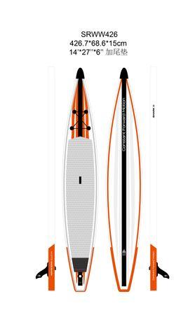 SHARK SUPs 14' 27'' Race – Inflatable Stand Up Paddle Board Komplettset – Bild 2