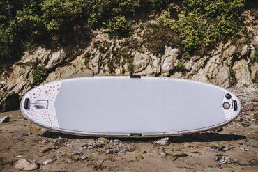 SHARK SUPs 8' Yoga Matte – Inflatable Stand Up Paddle Board Komplettset – Bild 5