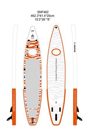 SHARK SUPs 15'2'' Family Tandem – Inflatable Stand Up Paddle Board Komplettset – Bild 2
