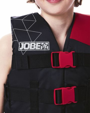 Jobe Nylon Vest Youth Red Schwimmweste Wasserskiweste Kinder Rot – Bild 3