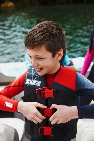 Jobe Nylon Vest Youth Red Schwimmweste Wasserskiweste Kinder Rot – Bild 5