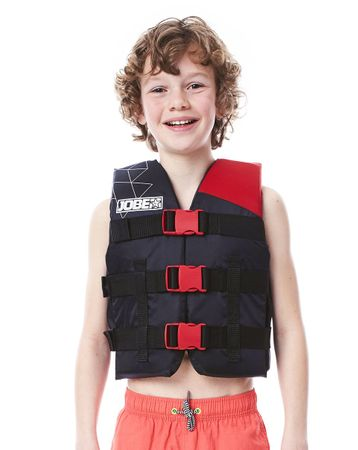 Jobe Nylon Vest Youth Red Schwimmweste Wasserskiweste Kinder Rot – Bild 1