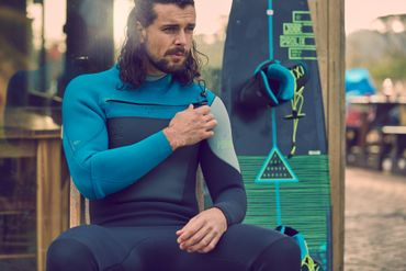 Jobe Portland 3/2 Teal Chest Zip Mens Wetsuit – Bild 5